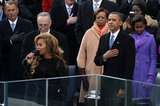 Beyoncé sang the national anthem at the inauguration.