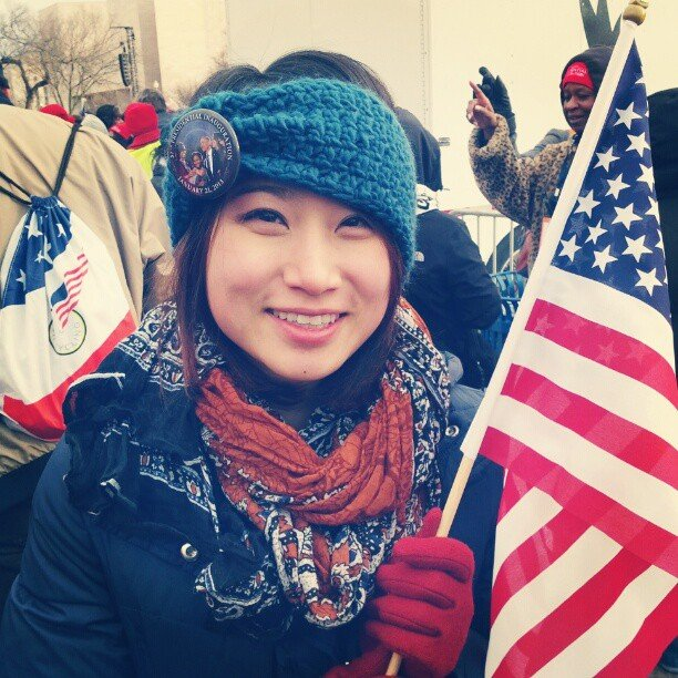 """Feeling super cold and patriotic today!"" Source: Instagram user em_chi"