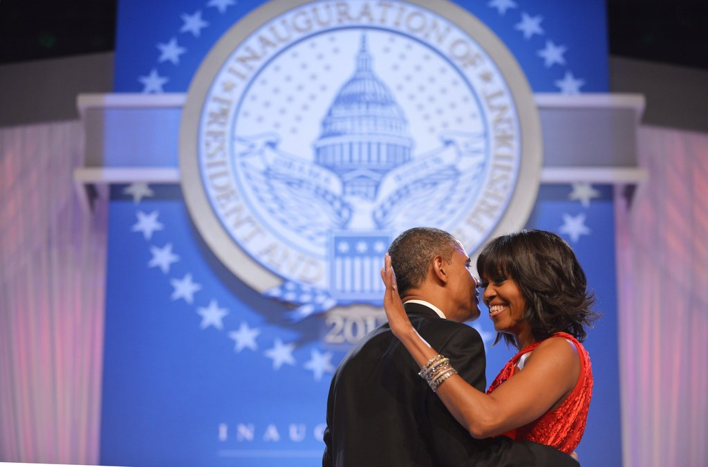 Barack and Michelle Obama were all romance at the ball.