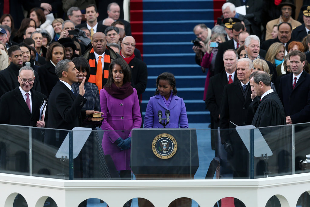 The Obamas took part in the presidential inauguration.