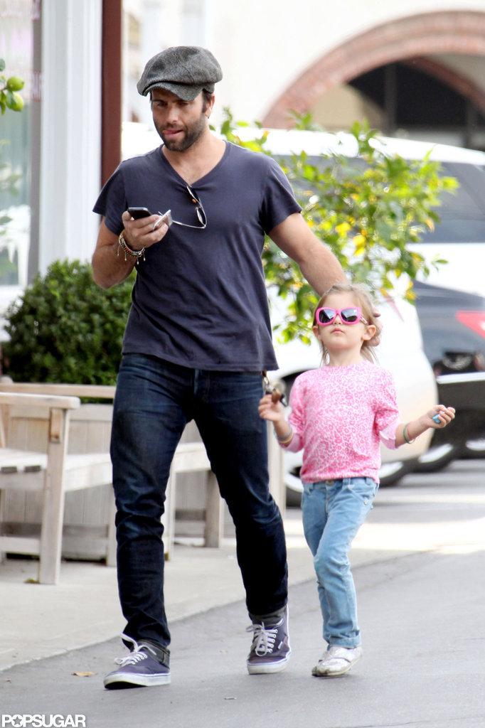 Jamie Mazur walked with Anja in LA.