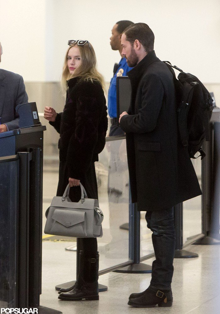 Kate Bosworth and Michael Polish caught a flight out of LAX.