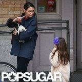 Kartie Holmes talked to Suri Cruise as they walked through NYC.