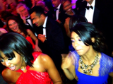 Eric Benet's daughter India danced with Michelle Obama during Monday night's Inaugural Ball. Source: Instagram user IndiaBenet