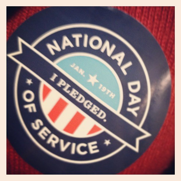 We participated in the National Day of Service on Saturday.