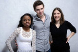 Milkshake stars Shareeka Epps, Tyler Ross, and Georgia Ford posed arm in arm at the film festival studio.