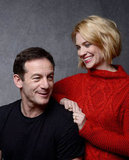 January Jones gave a sweet look to Sweetwater costar Jason Isaacs.