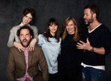 Director Drake Doremus, Mackenzie Davis, Felicity Jones, Amy Ryan and Guy Pearce goofed off while taking pictures for Breathe In.