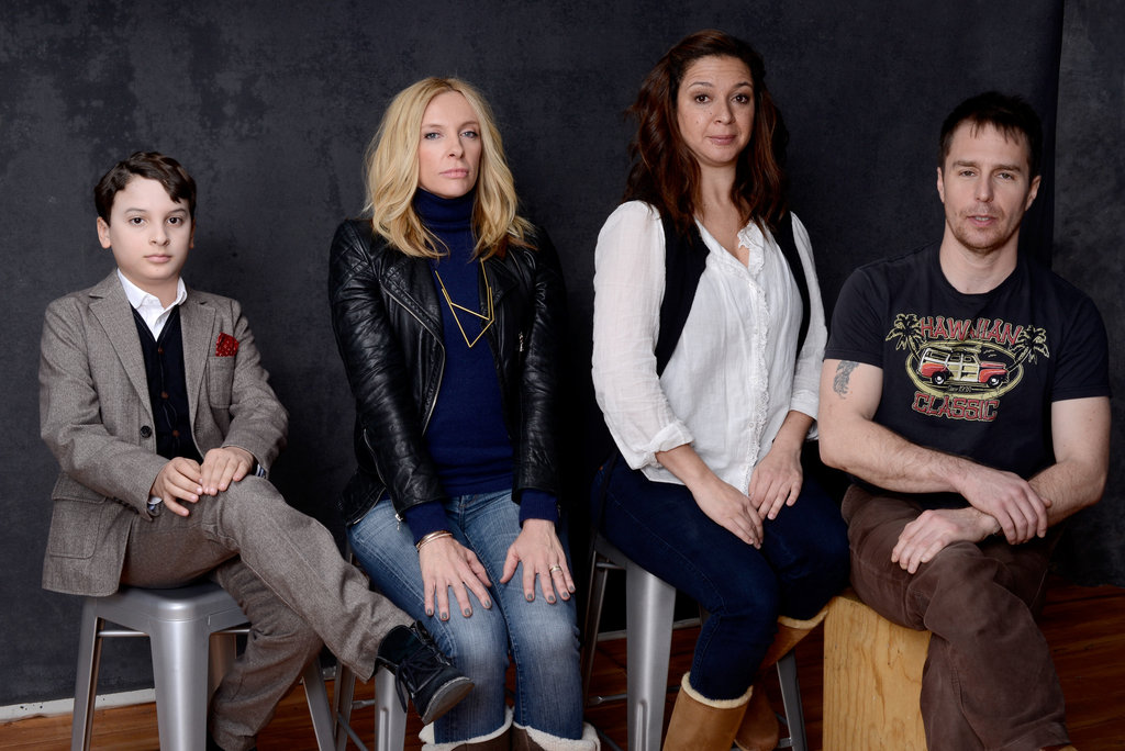 The Way, Way Back stars River Alexander, Toni Collette, Maya Rudolph, and Sam Rockwell practiced some good posture — and humor — inside the Sundance portrait studio.