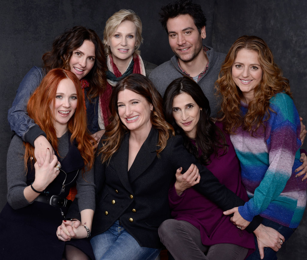 Juno Temple, director Jill Soloway, Jane Lynch, Josh Radnor, Annie Mumolo, Michaela Watkins and Kathryn Hahn made up the big group at Sundance representing Afternoon Delight.