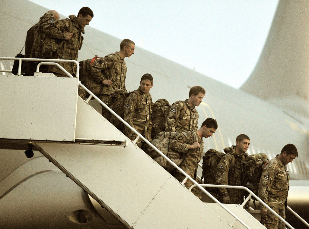 Prince Harry Arrives Home in the UK From Afghanistan