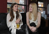 Young actresses Dakota Fanning and Elizabeth Olsen promoted their film during interviews at the Very Good Girls lunch on Wednesday at Sundance.