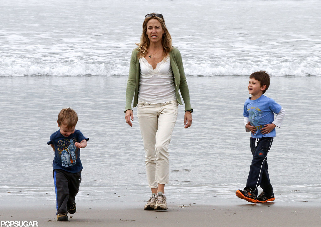 Sheryl Crow Is All Smiles on the Beach With Her Boys