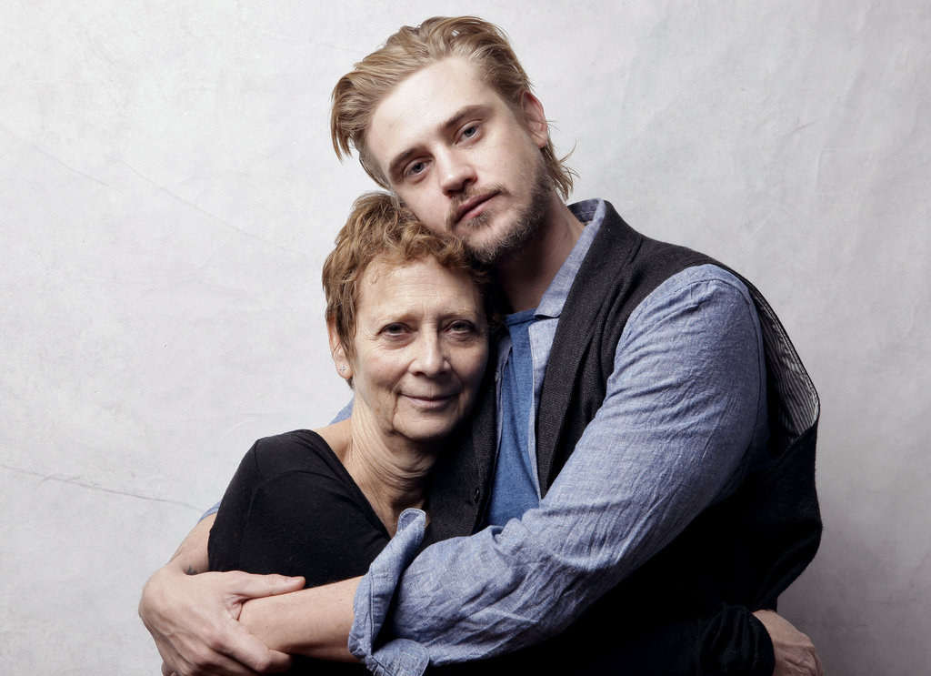 Naomi Foner and actor Boyd Holbrook took portraits while promoting their film Very Good Girls at Sundance.
