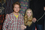 Brian Gattas and Amanda Seyfried linked arms for photos at the Lovelace premiere in Park City.