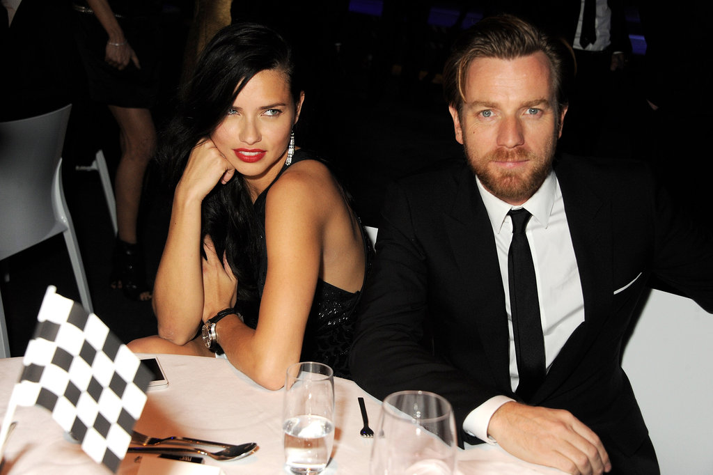 Adriana Lima enjoyed the company of Ewan McGregor in Switzerland.