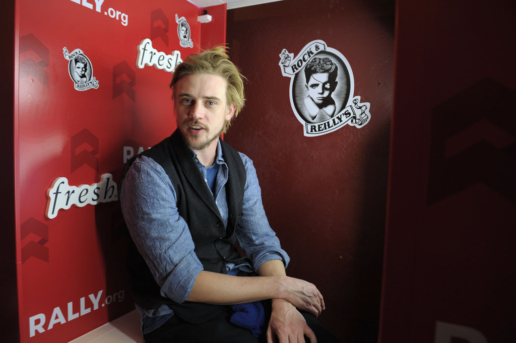 Actor Boyd Holbrook hung out in the photo booth during the Very Good Girls lunch on Wednesday.
