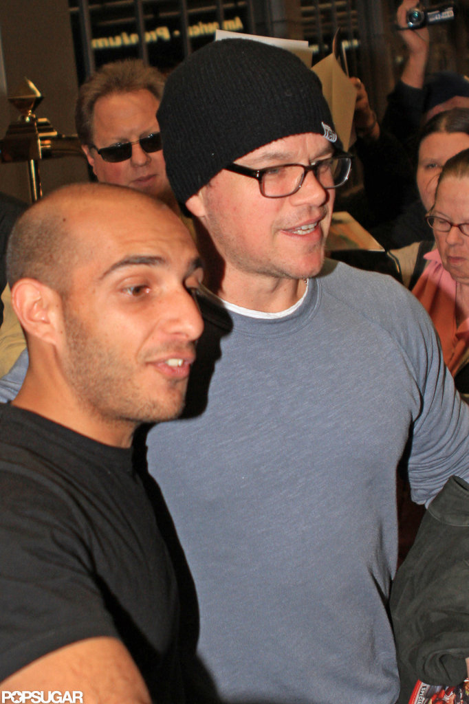 Matt Damon wore a beanie and glasses in LA.