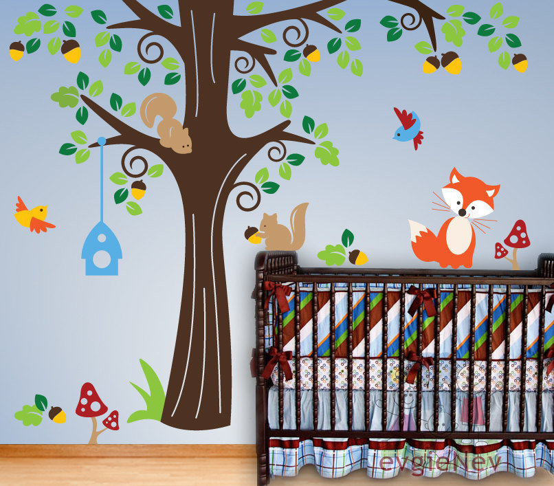 Animals in the Wood Vinyl Wall Decal