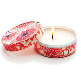 Save mint tins, decoupage them and transform them into custom travel candles. Source: Sunset Magazine