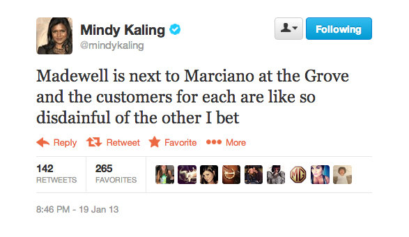 Mindy Kaling studied the layout of The Grove.