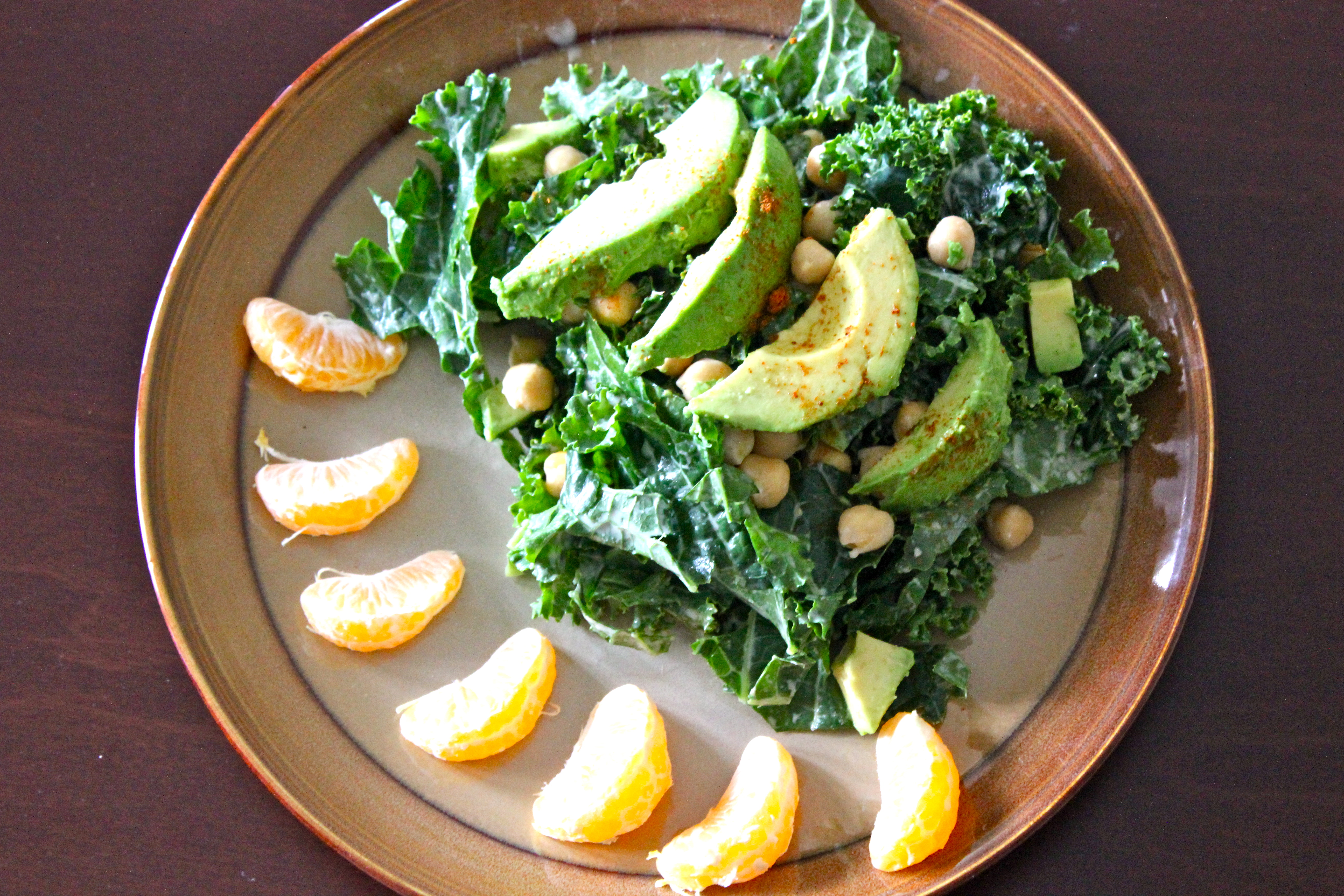 Kale and Chickpea Power Salad with a sweet tahini dressing ...