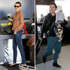 Miranda Kerr, Orlando Bloom and Flynn at LAX Airport