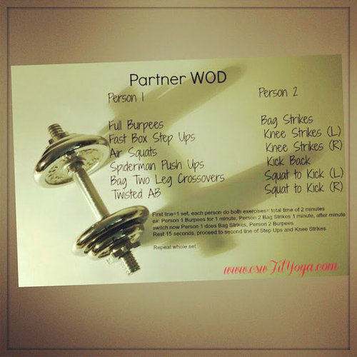 A partner workout