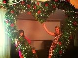 Lea Michele and Heather Morris posed on the romantic Glee set. Source: Twitter user msleamichele