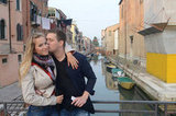 Michael Bublé planted a kiss on his wife's cheek during their April 2011 honeymoon in Venice.