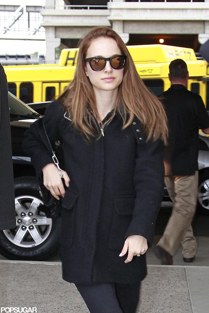 Natalie Portman arrived at LAX.