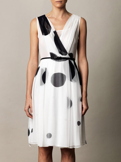 The sweetest kind of date-night dress, we love that the polka dots on this Maxmara Studio Digione Dress ($578) add a little retro flair, while the pleats are perfectly ladylike.