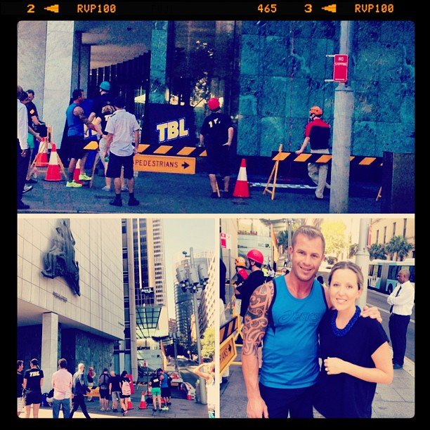 Our editorial asisstant, Tara, spotted Shannan Ponton and The Biggest Loser contestants doing some abseiling in the CBD — photo opportunity!