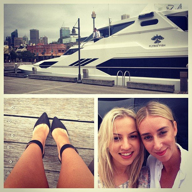 A day on the a beautiful boat was made even better when Alison bumped into fellow beauty editor, Hayley.
