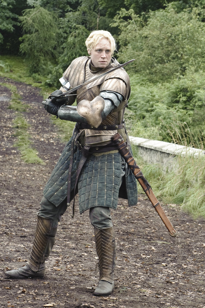 Brienne (Gwendoline Christie) is still trying to prove herself as a knight.