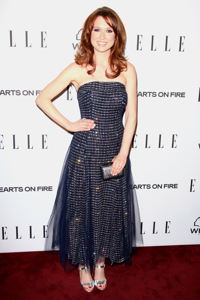 Ellie Kemper wore a sparkly gown on Thursday.
