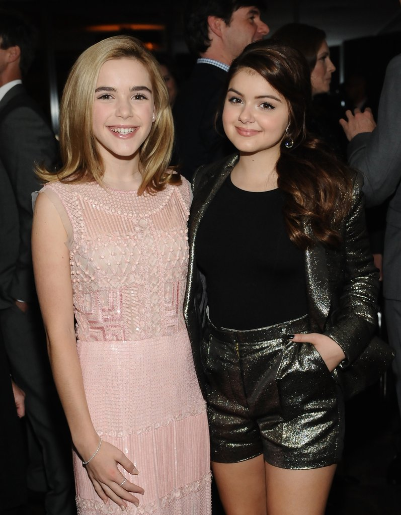 Kiernan Shipka wore a pink dress, while Ariel Winter opted for a metallic short suit.