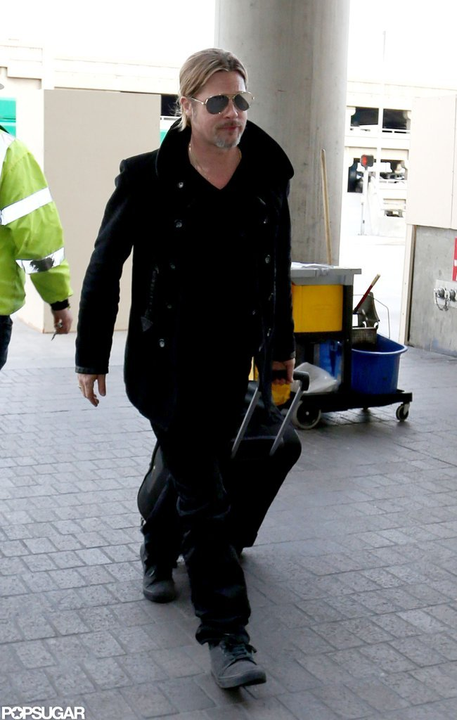 Brad Pitt made his way into LAX.