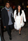 Kanye West took pregnant Kim Kardashian on a shopping spree in Paris.