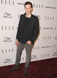 Bill Skarsgard went casual on the red carpet.