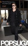 Brad Pitt traveled through LAX.