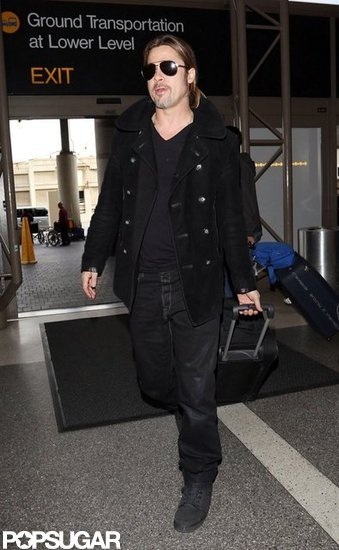 Brad Pitt traveled through LAX.