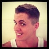 Johnny Ruffo showed off his new haircut to fans. Source: Instagram user johnny_ruffo