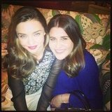 Miranda Kerr hung out with an friend, Aussie fashion editor Rachel Papandrea, on a night out. Source: Instagram user mirandakerrverified