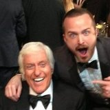 Aaron Paul was thrilled to meet Dick Van Dyke at the SAG Awards. Source: Instagram user glassofwhiskey