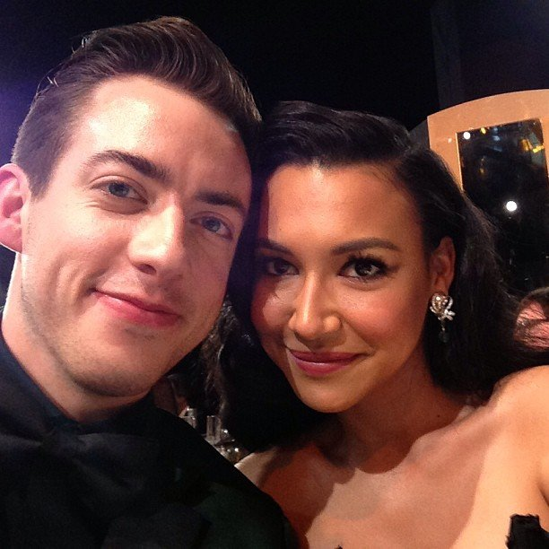 Kevin McHale and Naya Rivera posed for a quick picture. Source: Instagram user kevinmchale