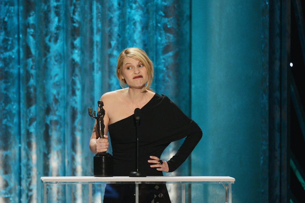 Claire Danes got a few laughs during her acceptance speech for Homeland.