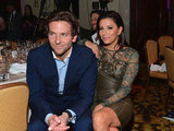 Eva Longoria cosied up to Bradley Cooper at the Friends Help Haiti Home Gala in January.