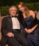 Robert de Niro and Jennifer Lawrence chatted at Sunset Tower after the SAGs.