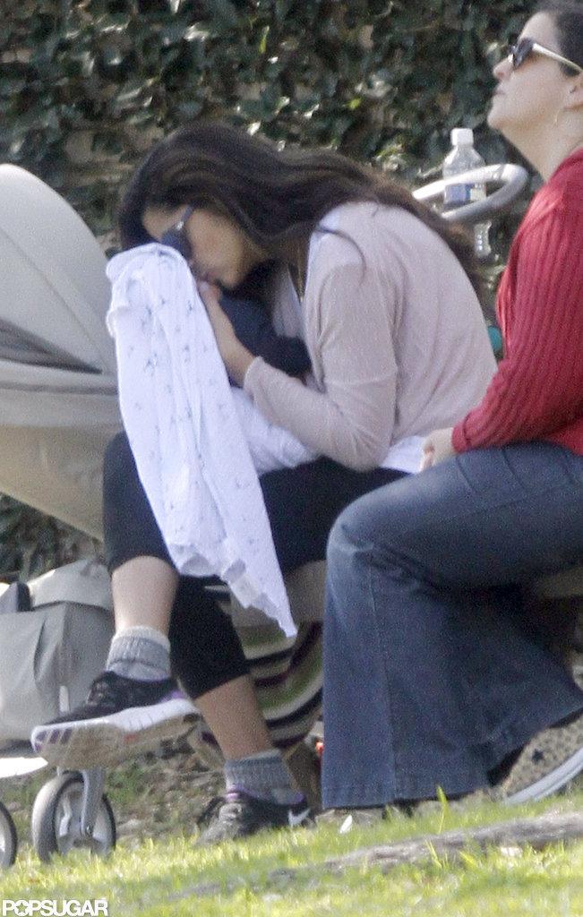 Camila Alves took Livingston McConaughey to a park.